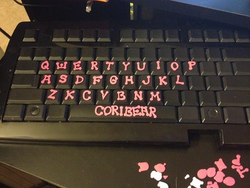 Foam letter keyboard