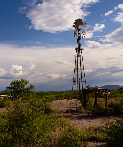 Old Double Adobe wind mill-014