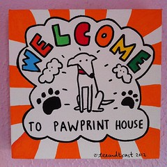 Welcome to Pawprint House (as made by @teeandtoast)