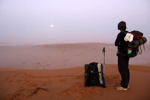 Staring eastwards towards the Omani sunrise