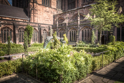 Cathedral Cloister Gardens 2012 by Mark Carline