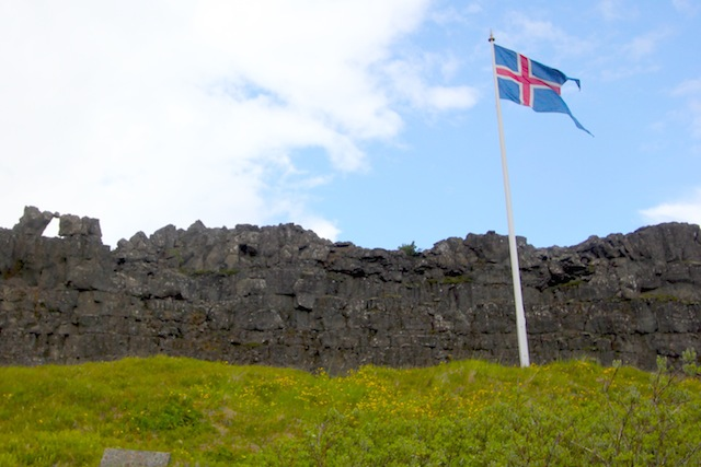 Thingvellir and the Icelandic flag
