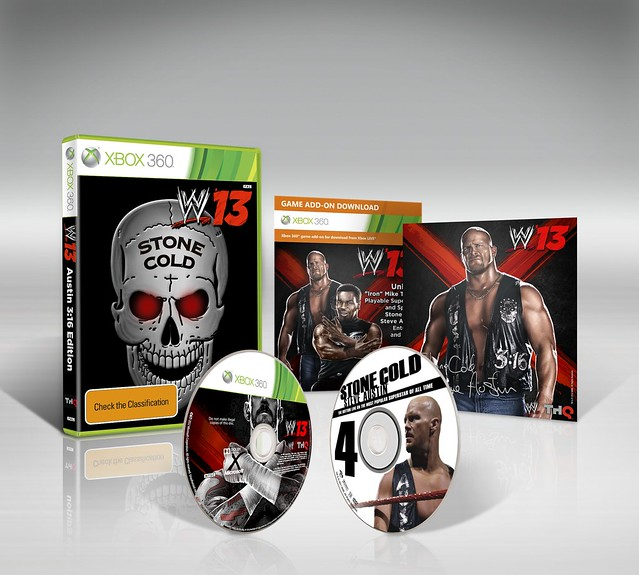 "WWE '13 ""Austin 3:16"" Collector's Edition Announced; Stone Cold Steve Austin Cover Superstar"