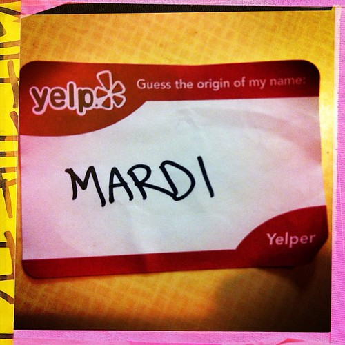 My #yelp name tag for tonight's lovely get together!