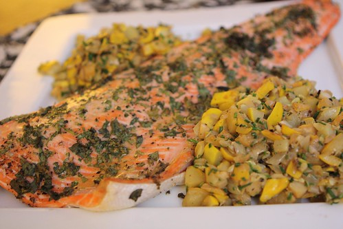 Roasted Wild Coho Salmon