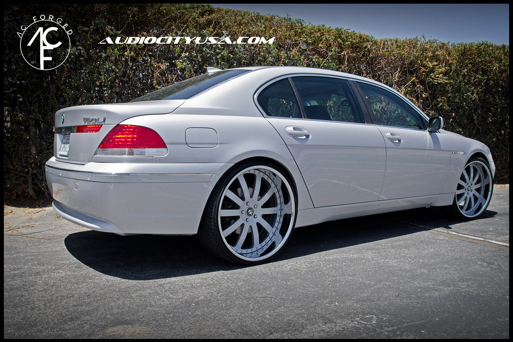 24 Quot Ac Forged 310 Color Mathed Center Chrome Lip On Bmw 745