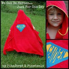 Superhero Towel Collage