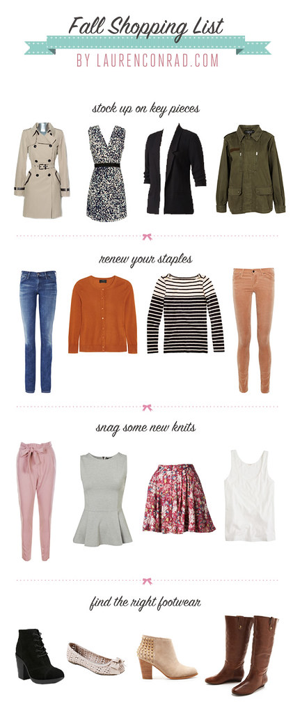 Shopping List Fall Must Haves Lauren Conrad