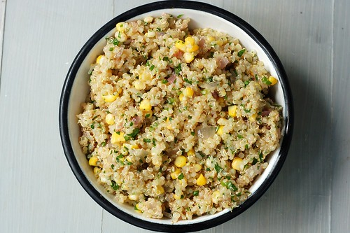 Quinoa, Sweet Corn, Lime & Jalapeno salad by Eve Fox, Garden of Eating blog, copyright 2012