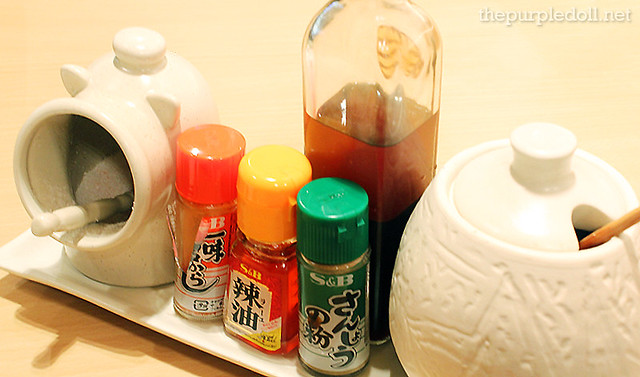 Condiments at Yabu