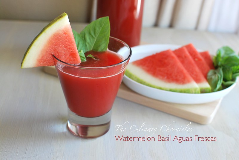 Watermelon Basil Aguas Frescas