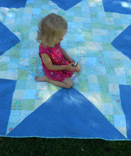 North Star, quilted at last