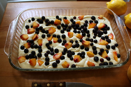 blueberry peach cake