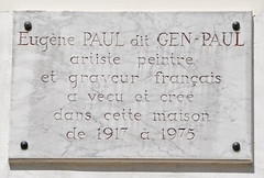 Photo of Eugène Paul marble plaque