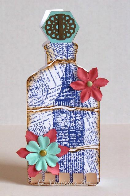London inspired bottle card