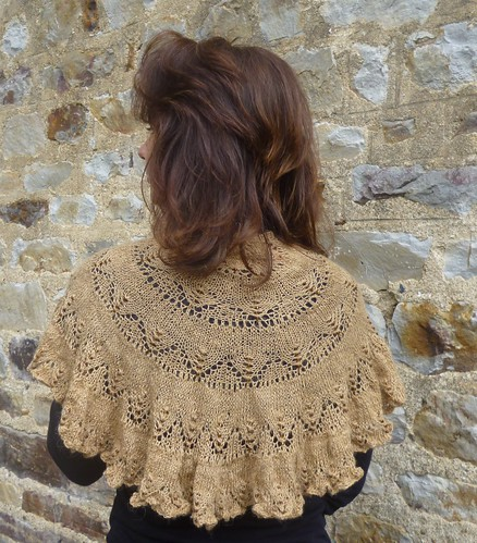 "The ""Chianti"" Lace Shawl"