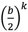 (b/2)^k