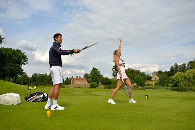 Maria Sharapova and Novak Djokovic
