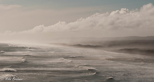 winter sea seascape west beach water coast waves view wind north auckland nz muriwai