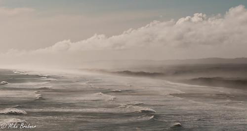 winter sea seascape west beach water coast waves view wind north auckland nz muriwai
