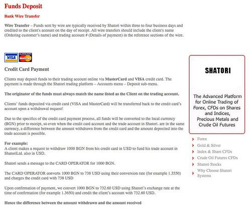 Weird deposit terms