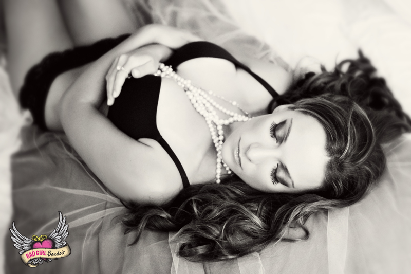 Sexy Black and White Boudoir Photography