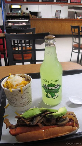 Hummel red hot, chili, and Stewart's key lime soda by Coyoty