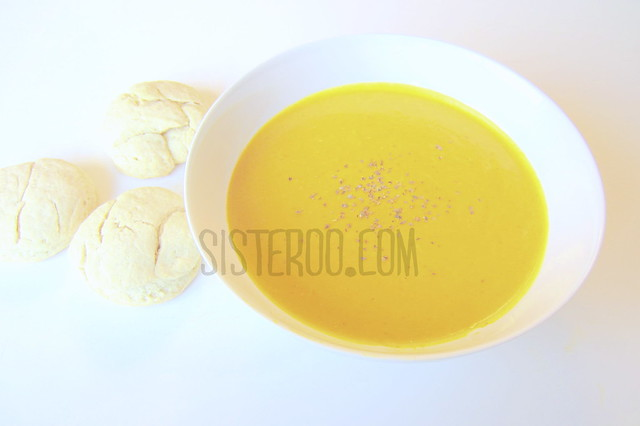 Simple Squash Soup and Biscuits