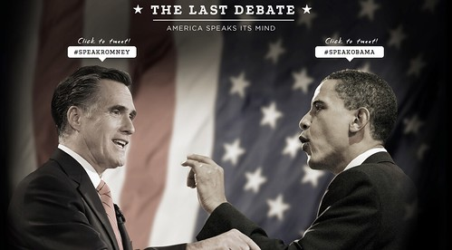 Obama and Romney in The Last Debate