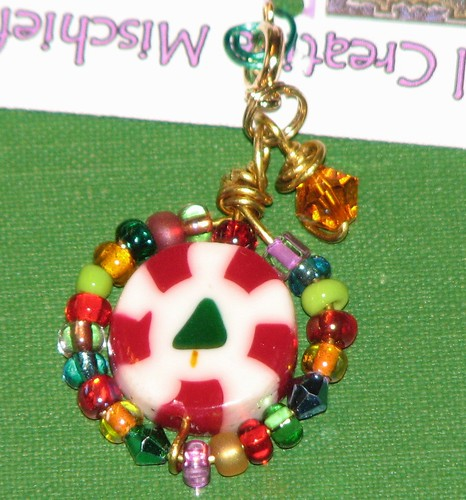 Ink Stains Altered Christmas Charm Swap 054