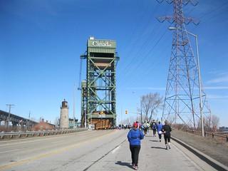 Hilly run to a bridge.