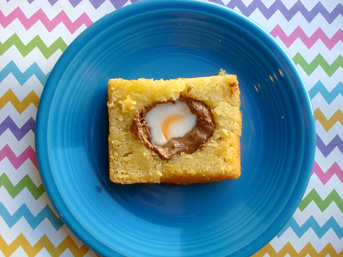 Cadbury creme egg in hole toast