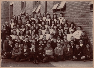 Alberton Primary School Year Four Class Photo showing teachers and pupils