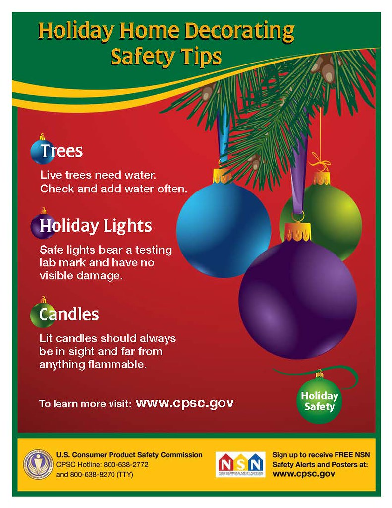 Tree, candle and holiday lights safety tips