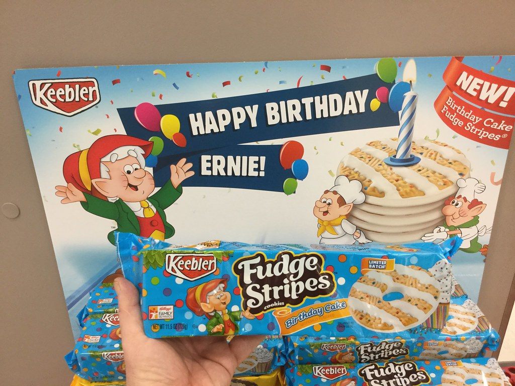 By JeepersMedia Keebler Fudge Stripe Happy Birthday Ernie Cookies