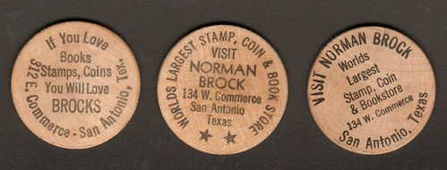 Norman Brock wooden nickels