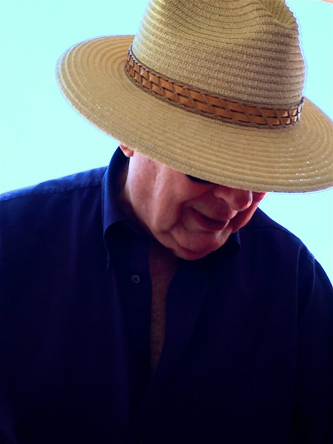 Man with  nice hatband