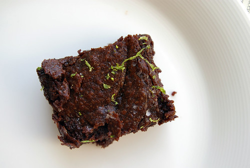 Brownie with Lime and Sea Salt