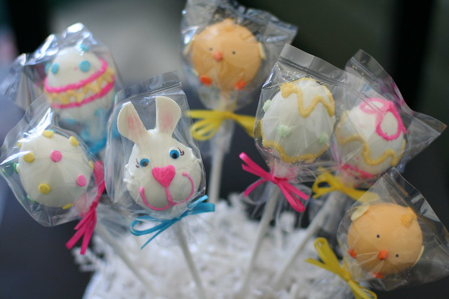 Assorted Easter Cake Pop Designs