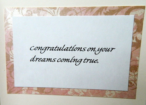 Bridal Shower Card - Dreams Come True - inside