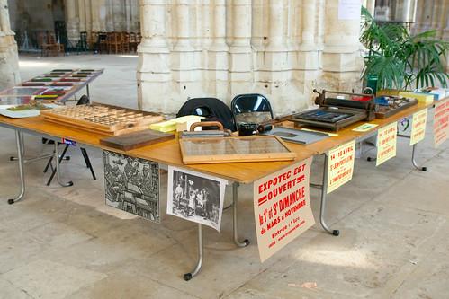 Stand du Centre d'Histoire Sociale au Salon du livre ancien