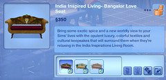 India Inspired Living- Bangalor Love Seat