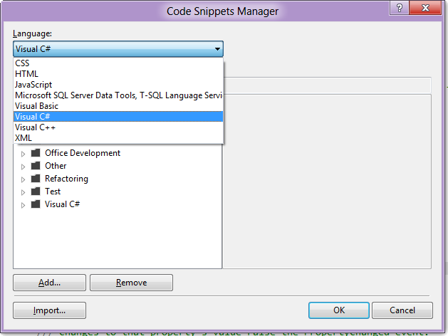 Code Snippets Manager