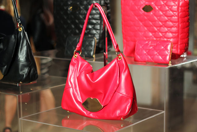 lulu guinness aw12 lips leather bag