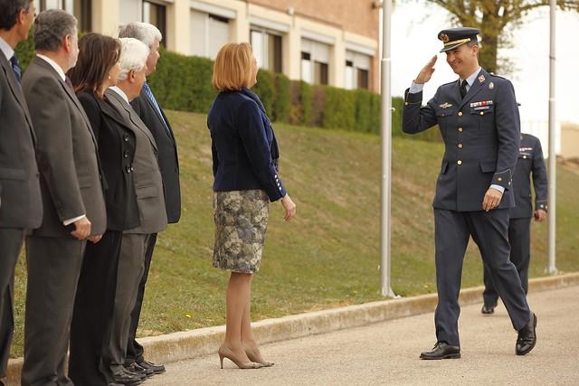 La Presidenta de Aragón participa en la visita de S.A.R. El Príncipe de Asturias al EADA y la ETESDA
