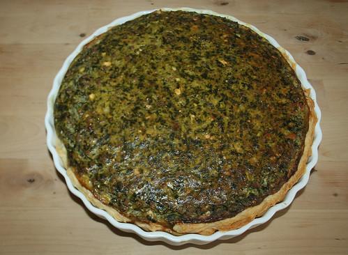 30 - Griechischer Hackfleisch-Spinatquiche / Ground meat spinach quiche - Fertig gebacken