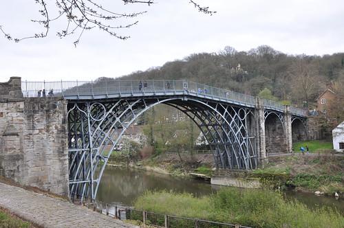 The world's first iron bridge in Ironbridge