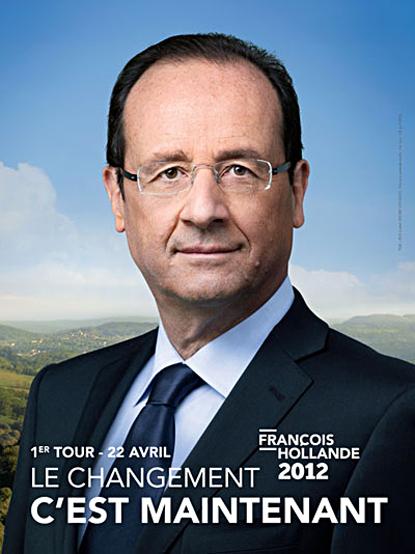 12e03 Hollande cartel campaña primera vuelta Uti