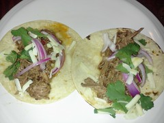 tostada, meal, breakfast, carnitas, flatbread, taco, tortilla, food, dish, cuisine, burrito,