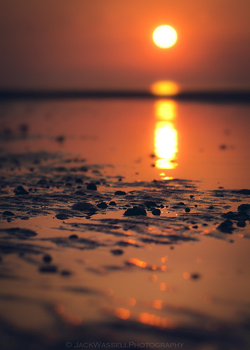 ocean sea sun reflection beach sunrise sand focus rocks dof bokeh pebbles depthoffield lowtide 85mmf18